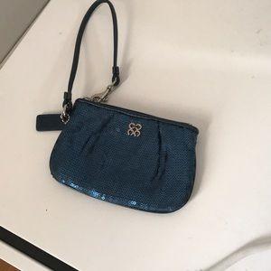 Coach wrist wallet turquoise